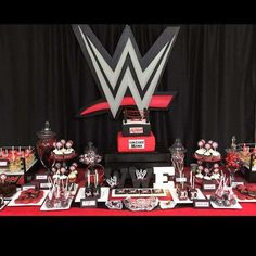 Check out this WWE birthday party! See more party ideas at CatchMyParty.com!