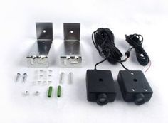 Aleko Safety Beam Sensors for Garage Door Openers by Aleko. $23.00. Includes 2 Metal Mounting Brackets with screws! 2 Photocell Safety Sensors with 32ft of long wire on each side and 2 Mounting Brackets with screws. Easy to install. Compatible with all garage door openers. Garage Door Sensor, Garage Door Opener, Garage Doors, Liftmaster Garage Door, Power Photos, Chain Drive, Home Safes, Garage House, Home Hardware