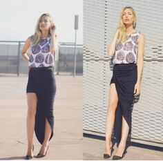 Persunmall Shirt, Topshop Skirt