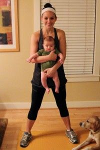 """5 Exercises You can do (At home!) with your baby- My 20+lb 1 year old may make these exercises VERY challenging!  (Also link on the """"5 (MORE) Exercises..."""")"""