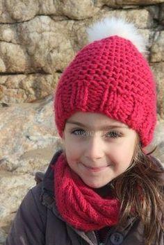 90426f05a7e6 Tuto bonnet fillette ...(4 6, 8 10 ans) -   HATS , HEADBANDS AND ...