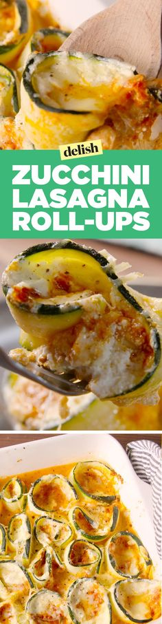 Zucchini lasagna roll-ups are #SummerPastaGoals. Get the recipe on www.Delish.com.: