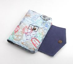 Fabric Passport Wallet  Cover  Holder for Two by StitchbirdandFern, $25.00