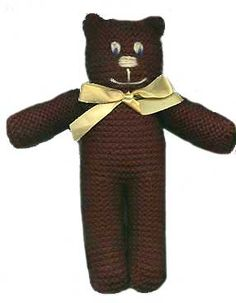 Knitting Pattern For All In One Teddy Bear : Knit Mr Beans Teddy Bear Toy knitting pattern - PDF only on Etsy, ?1.75 ...