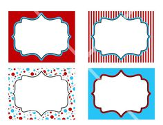 DIY Dr Seuss PRINTABLE Birthday Party Labels Tags by photodesignz, $3.00