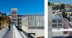 Arquitectura hormigón - texturizado-Aparcamiento- Galicia-interiores-diseño-moderno-edificio
