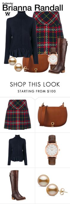 """""""Outlander"""" by wearwhatyouwatch ❤ liked on Polyvore featuring Miu Miu, Marni, SEMICOUTURE, Bulova, Timberland, television and wearwhatyouwatch"""