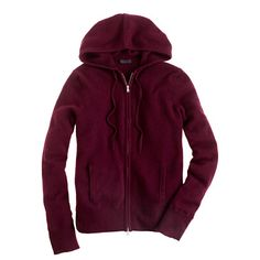 You know nothing of comfort unless you know the comfort of a cashmere zip-front hoodie