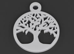 Tree Of Life Pendant by luxxeon The Tree Of Life, connecting all forms of creation, is a widespread archetype in much ancient culture, folklore, and mythological tradition. #pendant #sacred #geometry #tree of life #symbol #religious #norse #mythology #symbolic #3d #printing