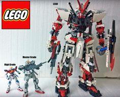 GUNDAM GUY: LEGO (MOC): MBF-P02 Gundam Astray Red Frame by Demon 1408