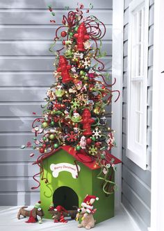 Dog housebase of tree for dog themed Christmas tree Covered in