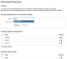 Microblogging Themen erstellen