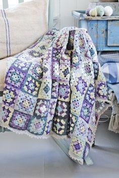 fun granny squares afghan
