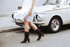 """""""SCHOPP MICH""""-Stiefel aus hochwertig braunen Veloursleder. Paul Green, Knee Boots, Shoes, Fashion, Fall Winter, Get Tan, Moda, Zapatos, Shoes Outlet"""