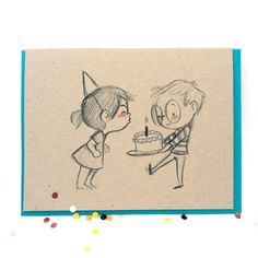 Blow the candles card by genevieve santos couple sketch, couple drawings, art drawings, Cute Couple Drawings, Mini Drawings, Cute Cartoon Drawings, Cartoon Sketches, Love Drawings, Art Drawings Sketches, Easy Drawings, Couple Sketch, Doodle Cartoon