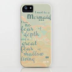 I must be a mermaid iPhone & iPod Case by LindsayMichelle I want this case! Dont know if I'll ever get this phone though