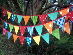 Circus Bunting Fabric Party Flags - Sew.
