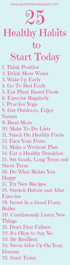 25 Healthy Habits to Start Today Useful Life Hacks, Life Hacks                                                                                                                                                                                 More