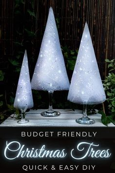 These budget-friendly wine glass Christmas trees are sure to brighten up your festive decor. #ChristmasDIY #ChristmasTree #ACraftyMix #ChristmasCrafts #TableDecor #WineGlassRepurpose Modern Christmas Decor, Whimsical Christmas, Handmade Christmas, Christmas Diy, Christmas Decorations, White Christmas, How To Make Christmas Tree, Cone Christmas Trees, Glass Christmas Tree