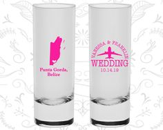 Belize Shooters, Belize Wedding, Custom Shooter Glass, Destination Shooters, Tall Shot Glass, Punta Gorda Shooters (162)
