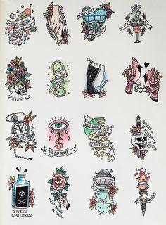 Kerplunk! flash tattoos