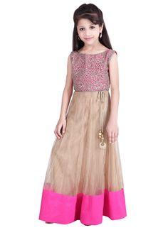 Charming Kids Net Floor Length Anarkali Suit