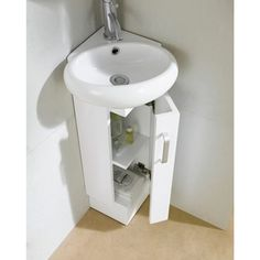Give Your Bathroom A Quick Update With This Stylish White Vanity. With One  Door And · Tiny BathroomsSmall Bathroom SinksSmall ...