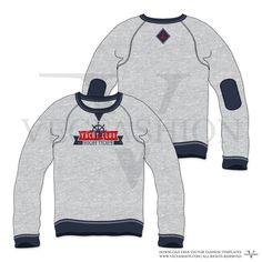 Men Classic Sweatshirt Vector Template