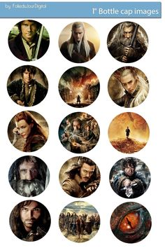Free Bottle Cap Images: The Hobbit free digital bottle cap images 1""