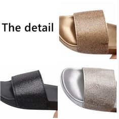 2b574a16ad55cb Crystal Diamond Bling Slides. Crystal DiamondWomens SlippersSlide SandalsCasual  ShoesFlip ...