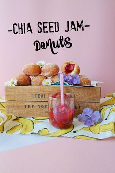 Raspberry chia seed jam donut recipe!