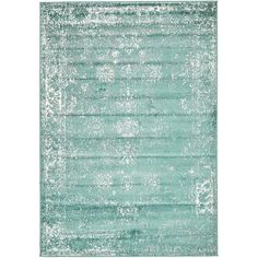 Conlin Turquoise/White Area Rug