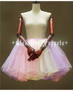 Classical Puppets A-line Rainbow Lolita Petticoat  #lolitadress   #petticoat