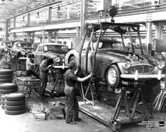 Final assembly line in the factory Austin Healey Department of Abingdon