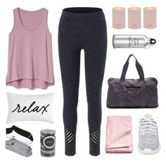 """Yoga Time"" by enamorado-dina ❤ liked on Polyvore featuring Charter Club, Beyond Yoga, adidas, Gap and L. Erickson"