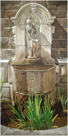mural with fountain by Carol Pascale