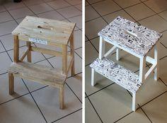 Craftoholic BLOG: Odnawiamy drewniany stołek! Magazine Rack, Storage, Furniture, Blog, Home Decor, Purse Storage, Decoration Home, Room Decor, Larger