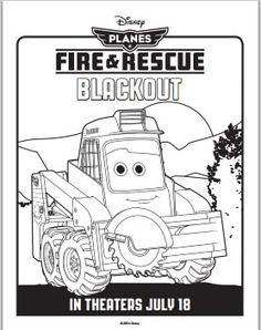 Blackout - Planes Fire and Rescue Coloring Pages #Disney #Planes #FireAndRescue