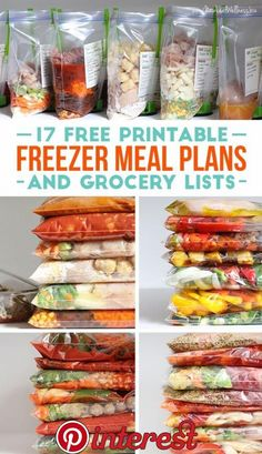 Free Printable Freezer Meals and Grocery Lists Kelly from New Leaf Wellness is offering 17 free printable freezer meals and grocery lists right now.Kelly from New Leaf Wellness is offering 17 free printable freezer meals and grocery lists right now. Make Ahead Freezer Meals, Dump Meals, Freezer Cooking, Quick Meals, Meal Prep Freezer, Crockpot Prep Meals, Freezer To Crockpot Meals, Frugal Meals, Meals To Freeze