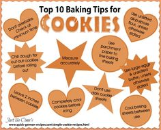 Top 10 Cookie Tips from Oma ... check out for more and recipes at http://www.quick-german-recipes.com/simple-cookie-recipes.html