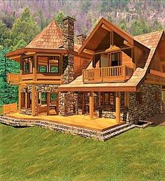 Want to experience the goodness of living in a country-style house and away from the city, and if you love hands-on, log cabin kits is the solution. Cabin House Plans, Rustic House Plans, Log Cabin Kits, Log Cabin Living, Log Cabin Homes, Log Cabins, Cabins In The Woods, House In The Woods, Style At Home