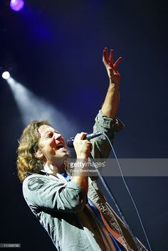 Eddie Vedder of Pearl Jam during A Benefit for Hurricane Katrina Survivors with Pearl Jam and Robert Plant at House of Blues in Chicago, Illinois, United States.