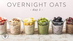 OVERNIGHT OATS 6 Ways   Easy Healthy RAINBOW Breakfasts 🐝 DAY 1 - YouTube