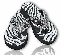 flip flops with zebra print