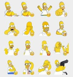 Homer Simpson Stickers Set | Telegram Stickers
