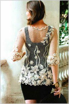 [Shantou ZQ Sweater Factory Crochet Blouses] Irish Crochet - blouse 2/7 by marcella grandjean, China Вязание блузки крючком с цветками factory, Вязание блузки крючком с цветками manufacturer, Вязание блузки крючком с цветками supplier, Вязание блузки крючком с цветками vendor