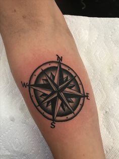 For his point of navigation black compass tattoo