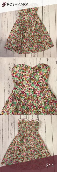 NWT A-Line Floral Dress This retro styled floral print in pinks, lilacs, greens and tans make this dress pop! Sweet heart neckline, with built in cups make it so you don't have to worry about wearing a bra on this darling A-line, fit & flare. Say What? Dresses Mini