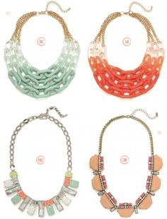 chunky necklaces - more → http://sylviafashionstylinglife.blogspot.com/2012/06/chunky-necklaces_12.html