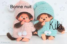 Pattern / Patron PDF ~Tenue au crochet pour Kiki / Monchhichi ~ Pattern, tutoriel de fabrication